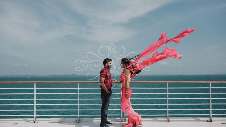 WeddingSutra – Akshat and Devika Destination Wedding, Genting Dream Cruise – Singapore – Malaysia – Thailand